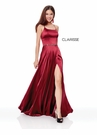 Clarisse Dress 3712 Charmeuse Long Prom Dress | Prom 2019