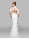 Clarisse Dress 600153 Ivory Lace Cold Shoulder Gown | White Collection 2019
