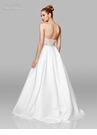 Clarisse Dress 600157 Strapless Jeweled Ivory Satin Ball Gown | White Collection 2019
