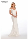 Clarisse 600210 Embellished Lace Gown | White Collection 2020| 2 Colors