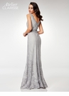 Clarisse M6501 Gray Embroidered Gown | Atelier 2018