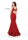 Clarisse Couture Dress 5028 Vamp Red Lace Trumpet | Prom 2019