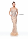 Clarisse Couture Dress 5034 Beads & Feathers  | Prom 2019