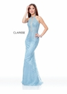 Clarisse Couture Dress 5014 Powder Blue Embroidered Gown | Prom 2019