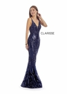 Clarisse Couture 5136 Navy Sequins Gown | Couture 2020|