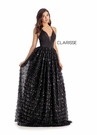 Clarisse Couture 5145 Crossing Black Satin Ball Gown |Couture 2020|