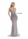 Clarisse Couture 5155 Sliver Crystal Gem Gown |Couture 2020|