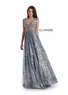 Clarisse Couture 5156 Platinum Brocade Gown |Couture 2020|