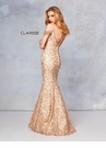 Clarisse Couture Dress 5052 Gold Embroidered Mermaid | Prom 2019