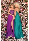 Clarisse Dress 8022 Gemstone & Chiffon Gown | Prom 2020| 3 Colors