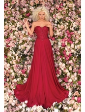 Clarisse Dress 8023 Flounce Stapless Gown | Prom 2020| 3 Colors