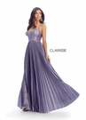 Clarisse Dress 8030 Violet Accordion Gown | Prom 2020|