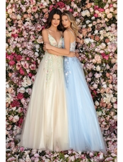 Clarisse Dress 8037 Multi Garden V-Shape Gown | Prom 2020| 2 Colors