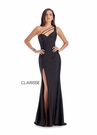 Clarisse Dress 8041Sexy Black Asymmetrical Gown| Prom 2020|