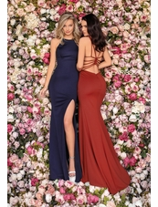 Clarisse Dress 8042 Boatneck Strappy Back Gown |Prom 2020| 3 Colors