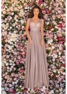 Clarisse Dress 8050 V-Shaped Shimmer Gown | Prom 2020| 3 Colors