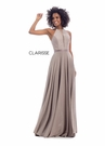 Clarisse Dress 8051 Shimmer Halter Gown | Prom 2020| 2 Colors