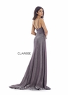 Clarisse Dress 8053 V-Shape Coruscate With Slit |Prom 2020| 2 Colors