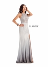 Clarisse Dress 8100 Silver Ombre Side Slit Gown | Prom 2020|