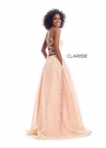 Clarisse Dress 8122 Light Peach A-Line Gown | Prom 2020|