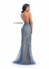 Clarisse Dress 8126 Teal Embroidered Sheath Gown | Prom 2020|