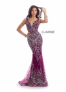 Clarisse Dress 8127 Bordeaux Cloumn Gown | Prom 2020|
