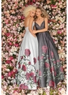 Clarisse Dress 8131 Floral Print Ball Gown | Prom 2020| 2 Colors
