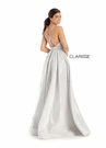 Clarisse Dress 8132 Silver Brocade A-Line Gown | Prom 2020|