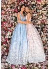 Clarisse Dress 8137 Jacobean Halter Ombre Gown| Prom 2020| 2 Colors