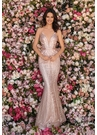 Clarisse Dress 8220 Rose Gold Intricate Embroidery Gown| Prom 2020|