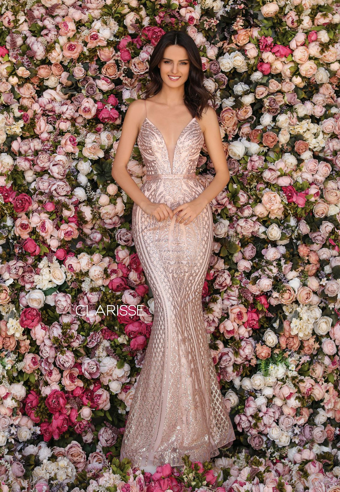 Clarisse Dress 6 Rose Gold Intricate Embroidery Gown Prom 6