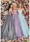 Clarisse Dress 8232 V-Shape Shimmer Ball Gown | Prom 2020| 4 Colors