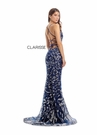 Clarisse Dress 8240 Elaborate Navy & Silver Dimonad Gown |Prom 2020|