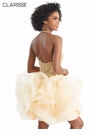 Clarisse Gold Ruffle Homecoming Dress 3912