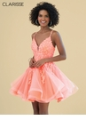 Clarisse Homecoming 2019 Coral Cocktail Dress 3938