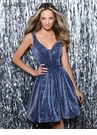 Clarisse Homecoming 2019 Navy Shimmer Dress 3935