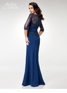 Clarisse M6525 Dark Royal Long Sleeved Evening Gown |Atelier 2018