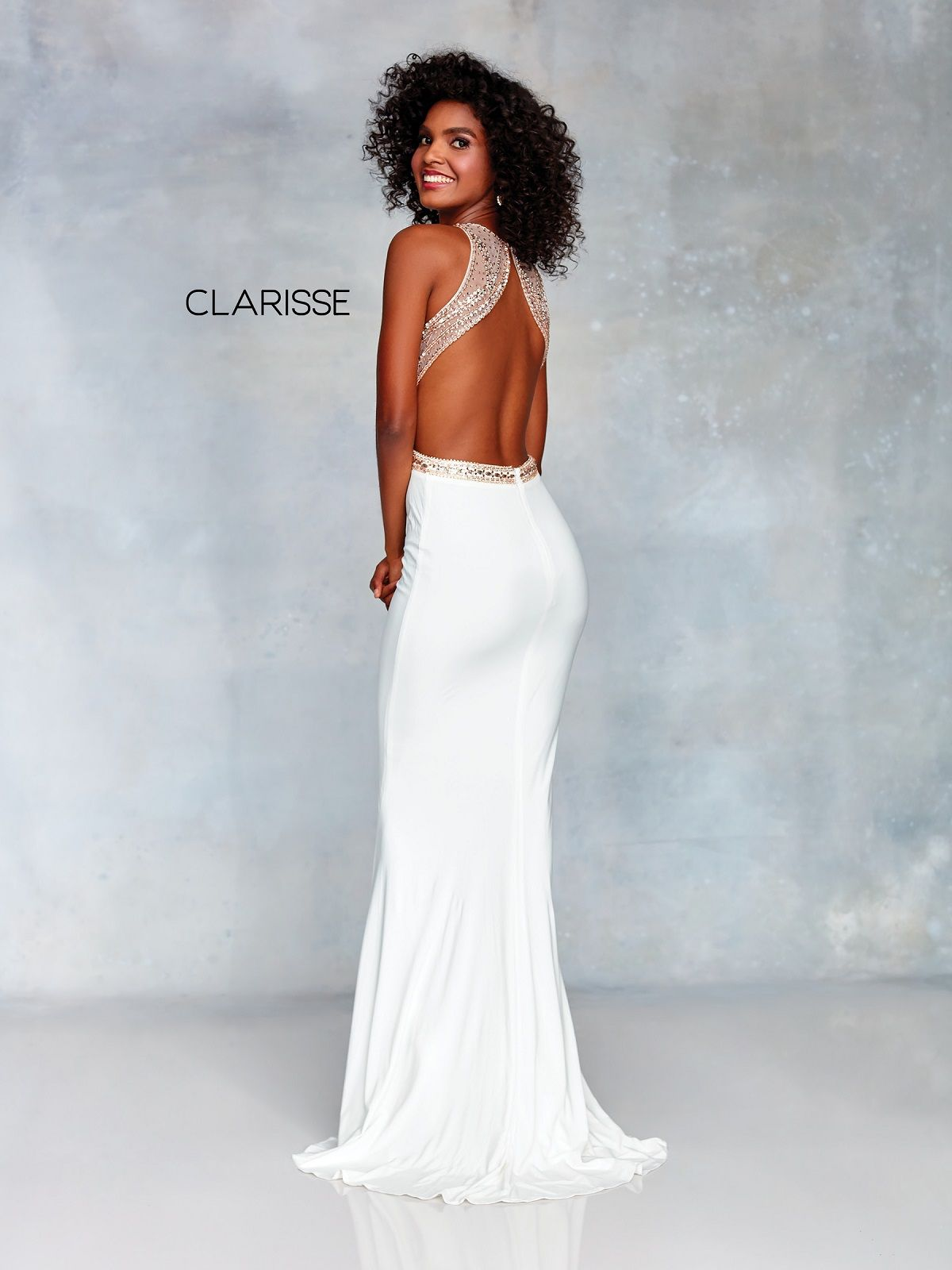 b9c9b562a18 Clarisse Dress 3720 Sexy Sequined Cut Out Fitted Prom Dress