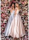 Clarisse Prom Dress 8010 Bardot Satin Ball Gown | 2020 Prom| 3 Colors