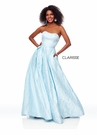 Clarisse Dress 3705 Strapless Baby Blue Gown | Prom 2019