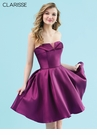 Clarisse Plum Strapless Homecoming Dress 3917 | 3 Colors