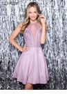 Clarrise Homecoming 2019 Sparkle Lavender Cocktail Dress 3959