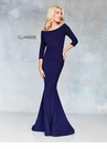 Clarisse Dress 3853 Classic Navy Long Sleeve Gown | Prom 2019