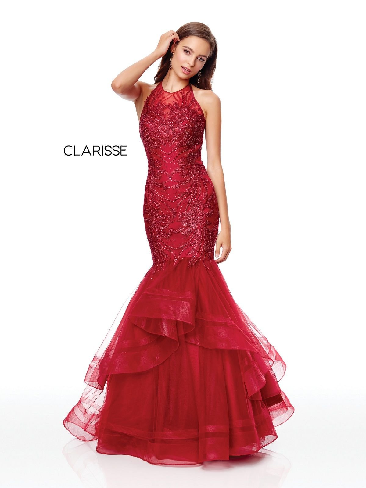 76d8b16735b Clarisse Couture Dress 5016 Ruffled Mermaid Gown