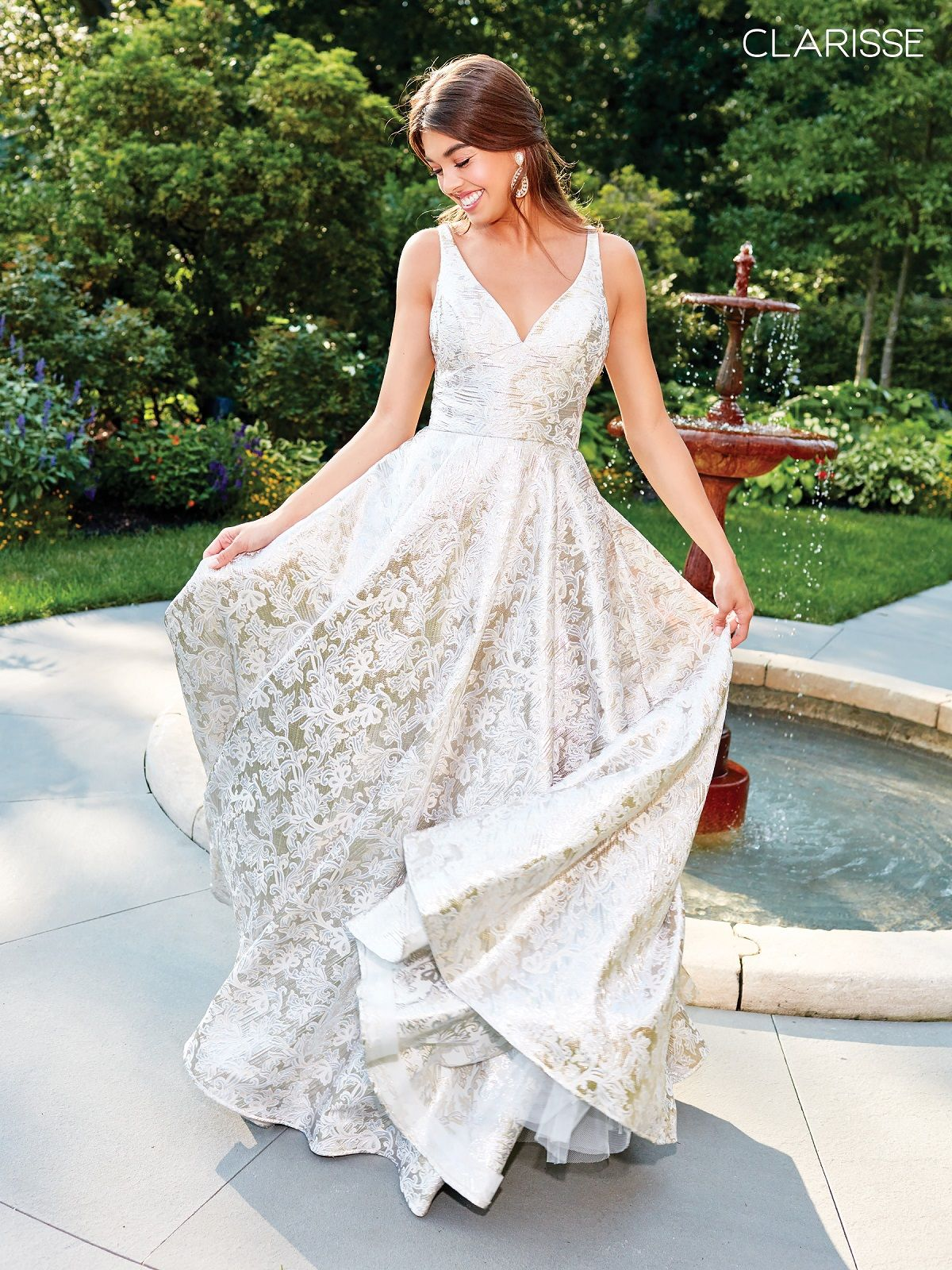 Image result for champagne and gold brocade gown