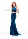 Fitted Velvet Long Prom Dress 3468 | 3 Colors | Prom 2019
