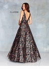 Clarisse Dress 3804 Black Floral Ball Gown | Prom 2019