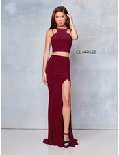 Clarisse Dress 3761 Halter Two-Piece Prom Dress | 4 Colors | Prom 2019