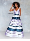 Clarisse Dress 3878 Playful Striped Ball Gown   Prom 2019