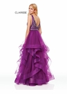 Clarisse Dress 3813 Mulberry Jeweled Ruffle Ball Gown   Prom 2019